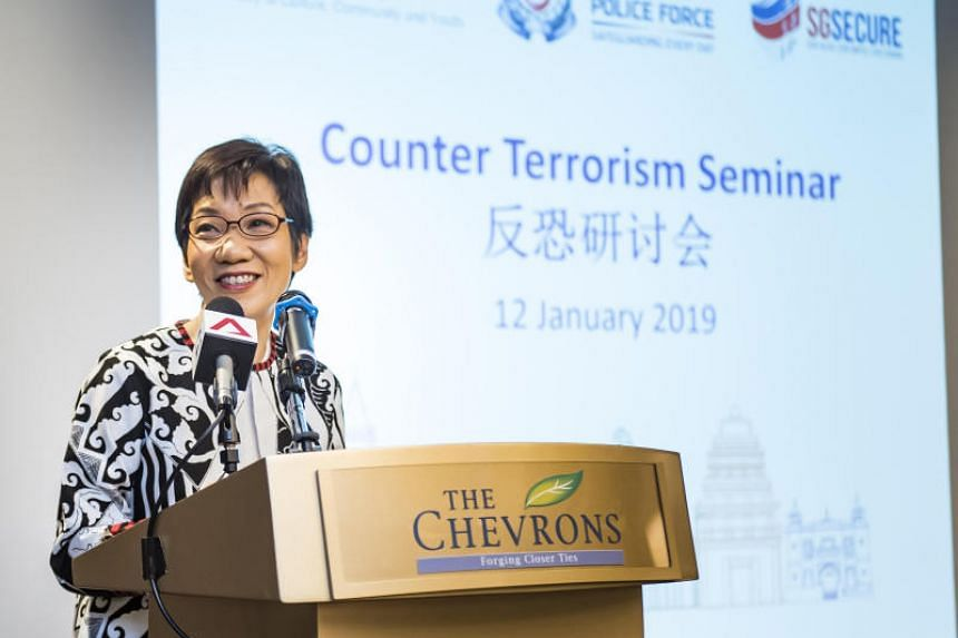 Minister for Culture, Community and Youth Grace Fu announced the initiatives at the Counter-Terrorism Seminar for Buddhist and Taoist Temples.