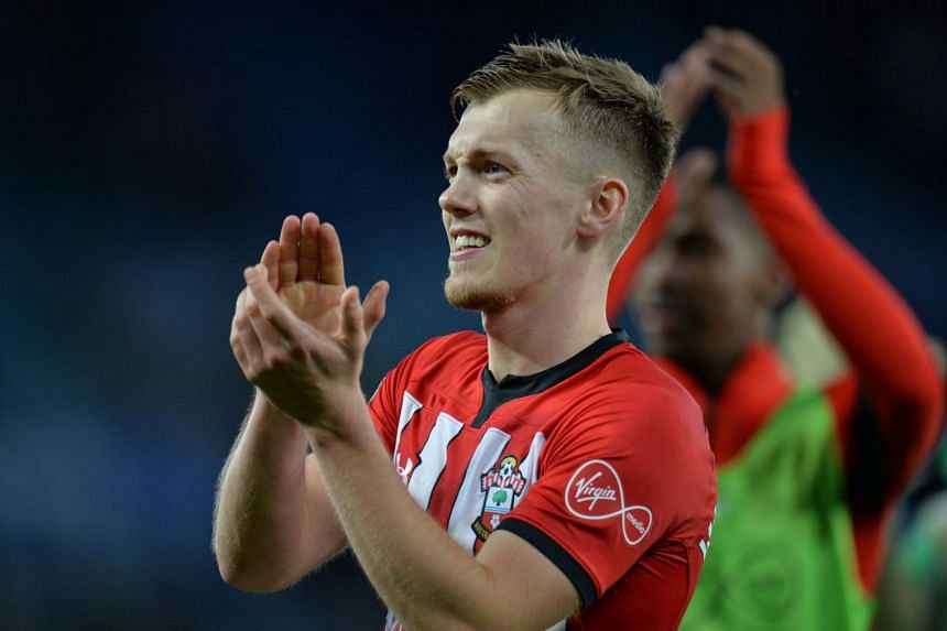 Southampton's James Ward-Prowse applauds fans after the match.