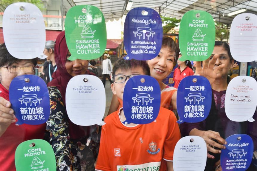 Culture, Community and Youth Minister Grace Fu puts up her wishes for Singapore's nomination of its hawker culture for inscription into Unesco's Representative List of the Intangible Cultural Heritage of Humanity at the Our SG Hawker Culture exhibiti