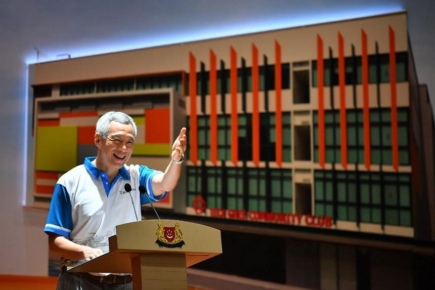 Prime Minister Lee Hsien Loong at the official opening of the upgraded Teck Ghee Community Club on Jan 13, 2019.