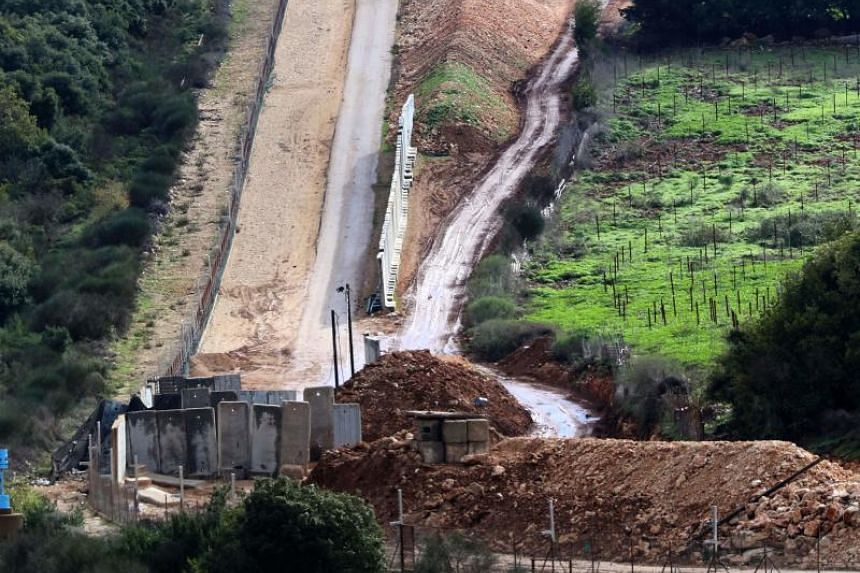 A file photo taken on Dec 21, 2018, from the South Lebanese village of Ramyeh shows an Israeli military outpost across the border. After previously reporting the discovery of five Hezbollah tunnels, the Israeli military said another had been found on