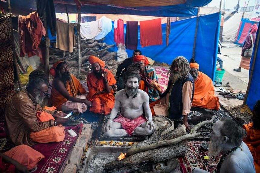 State authorities in Uttar Pradesh are expecting 12 million visitors to descend on Allahabad to bathe in holy rivers for the Kumbh Mela.