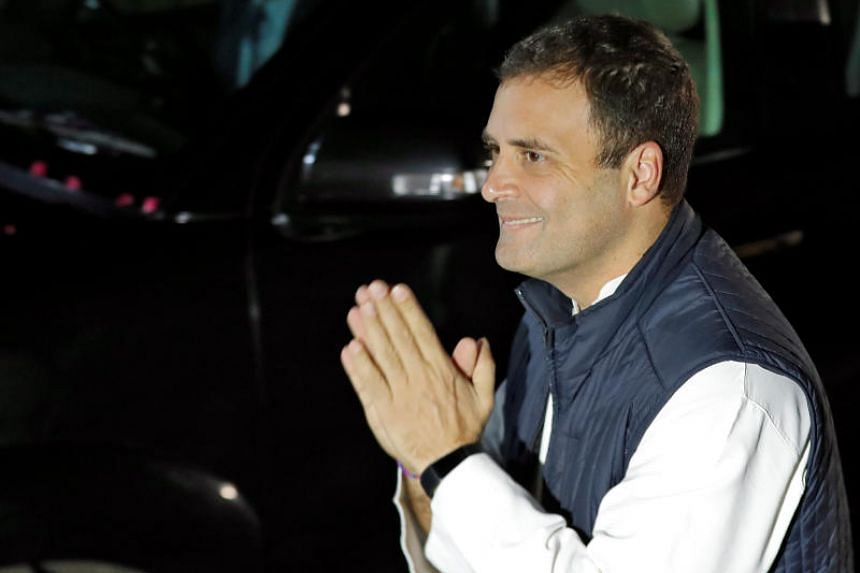 India's Congress party leader Rahul Gandhi said his main priority would be to create jobs, simplify the GST, and rebuild confidence in institutions such as the Reserve Bank of India and the Supreme Court.