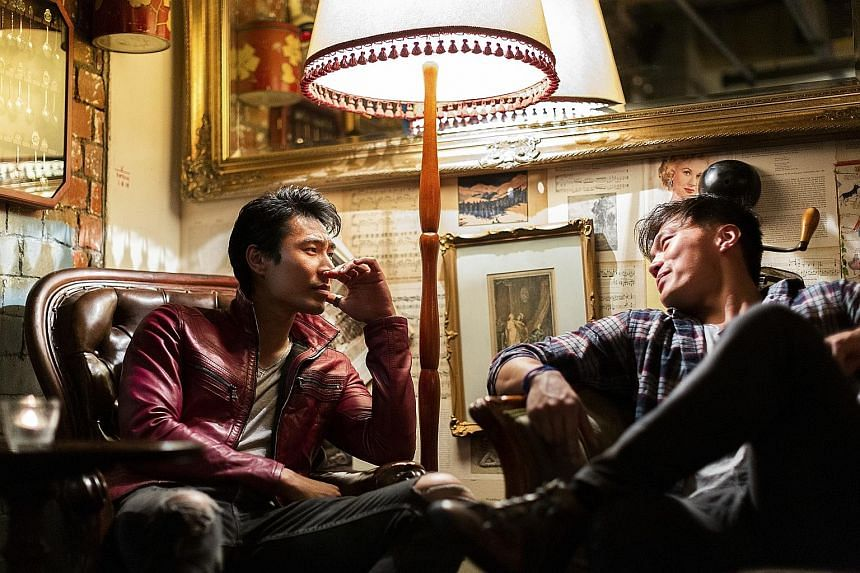 Chris Pang (far left), who appeared in box-office hit Crazy Rich Asians, with John Harlan Kim (left), who had a four-season stint on The Librarians.