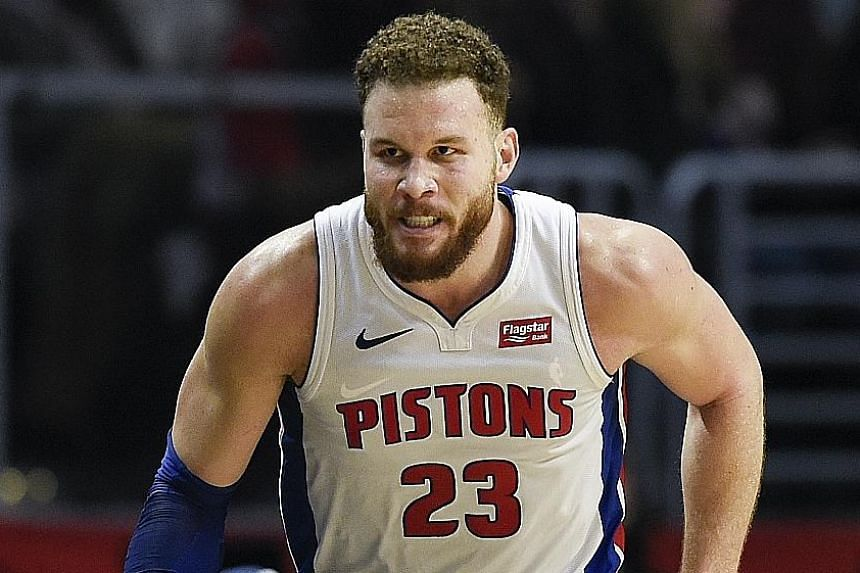 Blake Griffin led the Detroit Pistons to a 109-104 victory against the Los Angeles Clippers, who traded him abruptly a year ago.