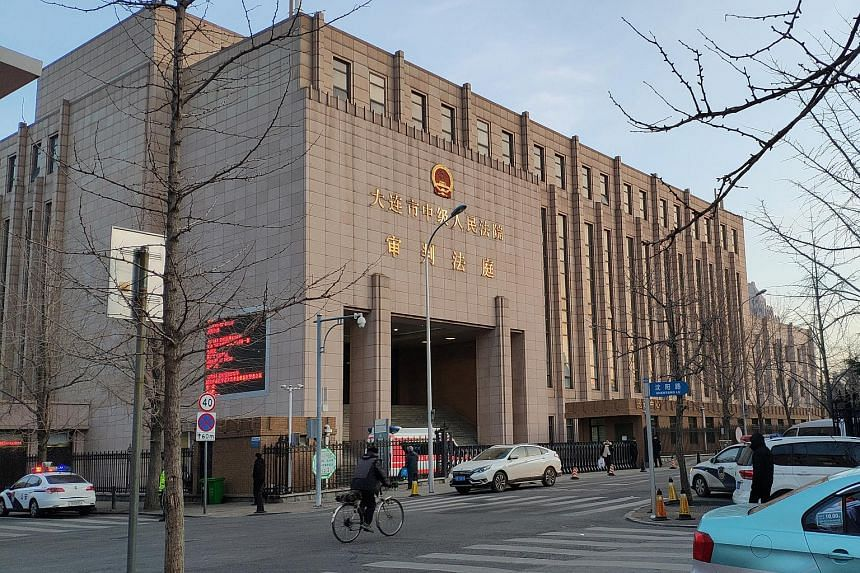 The Intermediate People's Court of Dalian, where the trial for Robert Lloyd Schellenberg will be held, in Liaoning province, China.
