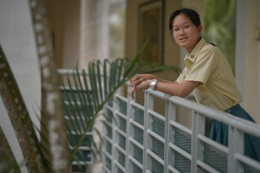 Benecia Tang, a Crescent Girls' School student, who was diagnosed with dyslexia in Primary 4. She hopes to eventually set up a social enterprise for children with learning difficulties.