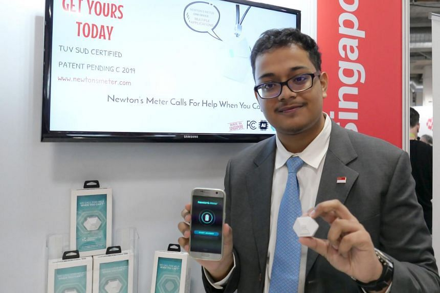 Choa Chu Kang Secondary School student Sid Mazumdar is the founder of Newton's Meter, an advanced micro-electronic personal safety device.