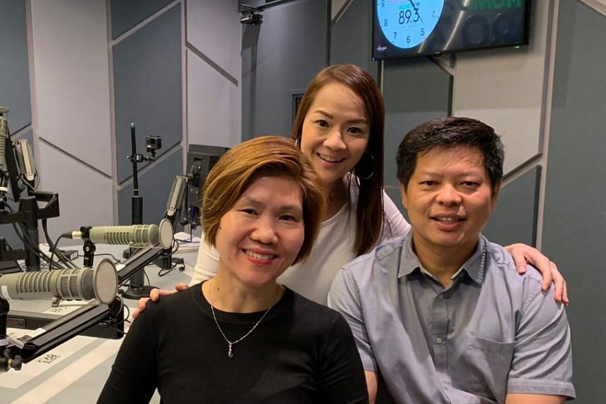 Money FM's Howie Lim (centre) is with Mr Joachim Ng, director of the Singapore Film Commission and Ms Dorothy Lai, director, public service media assessment, IMDA, as they discuss the media industry plan for Singapore.
