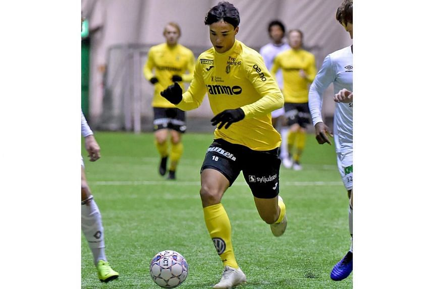 Ikhsan Fandi on trial with Raufoss against top-tier Norwegian club Mjondalen on Saturday. He is the first local-born Singaporean in 30 years to join a European football team.