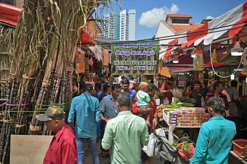 People thronged the streets of Little India yesterday for some last-minute shopping to prepare for the annual Pongal festival, traditionally celebrated by farmers in India to give thanks for a year of bountiful harvest. The festival is celebrated for