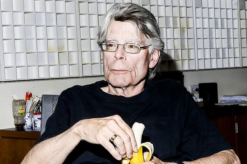 HAPPY ENDING TO TWEET APPEAL: Horror author Stephen King (left) reacted with horror when the largest daily newspaper in his home state decided it was going to stop publishing regional book reviews. The best-selling author from Bangor, Maine, tweeted