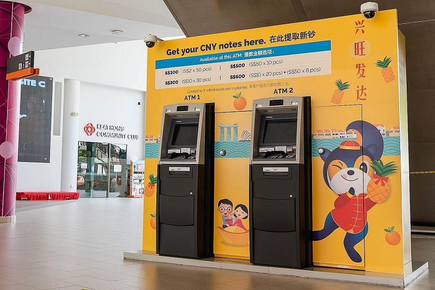 The 42 temporary ATMs, installed islandwide, will allow customers to obtain new notes with more ease, DBS Group said.