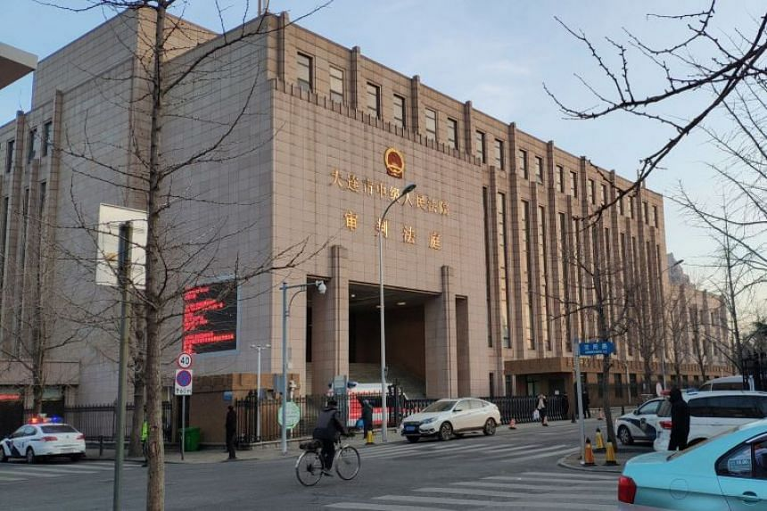 Dalian Intermediate People's Court (above) in the northeast province of Liaoning retried Robert Lloyd Schellenberg and handed down the death penalty.