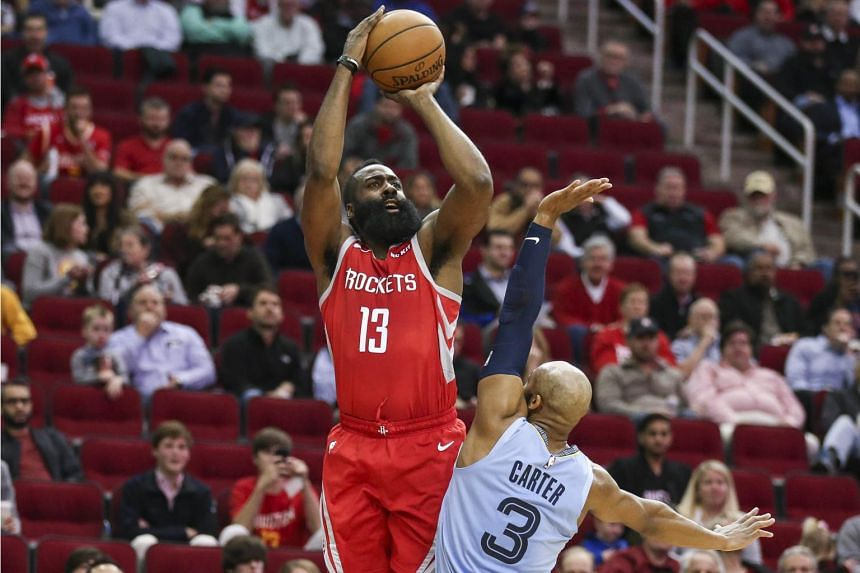 Houston Rockets guard James Harden extended his streak of consecutive 30-point games to a remarkable 17 - and he did it by half-time with 36 points before the break.