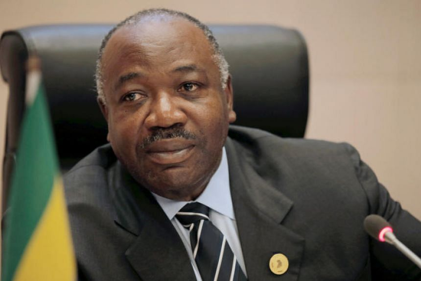 Gabon President Ali Bongo at an African Union summit in Addis Ababa, Ethiopia, on Jan 29, 2018.