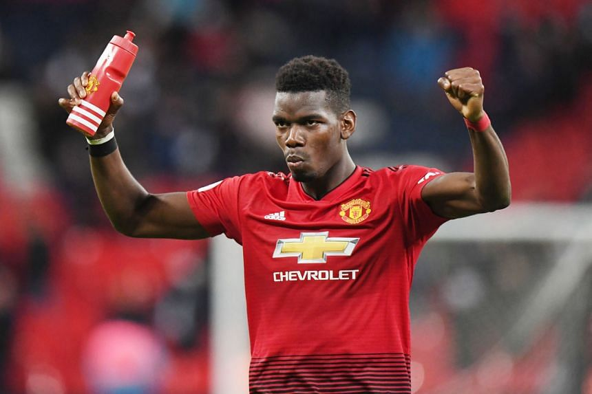 Marcus Rashford scoring the only goal of the match (left) on Sunday, after receiving a pin-point pass from Paul Pogba (below), who has been enjoying a rich vein of form under United's interim coach Ole Gunnar Solskjaer.