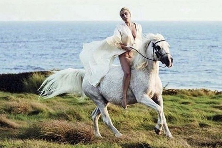 Singer-actress Lady Gaga rushed to see her dying horse, Arabella, after bagging Best Actress at the Critics' Choice Awards on Sunday.