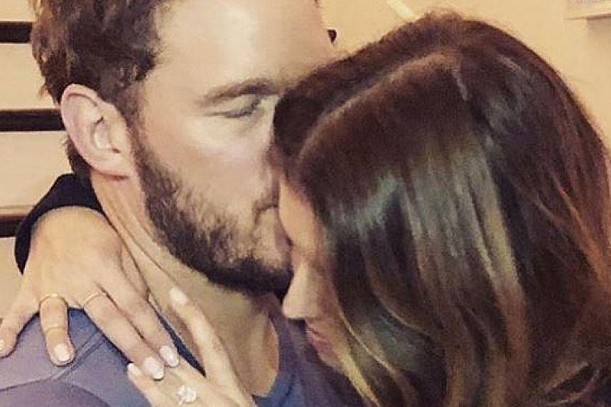 Actor Chris Pratt popped the question to author Katherine Schwarzenegger, the daughter of former California governor Arnold Schwarzenegger, after a whirlwind romance.