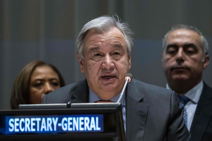 """UN Secretary-General Antonio Guterres the report as containing """"some sobering statistics and evidence of what needs to change to make a harassment-free workplace real for all of us""""."""