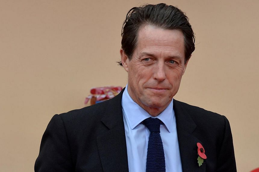 Actor Hugh Grant poses for photographers at an event in Southbank, London, on Nov 5, 2017.