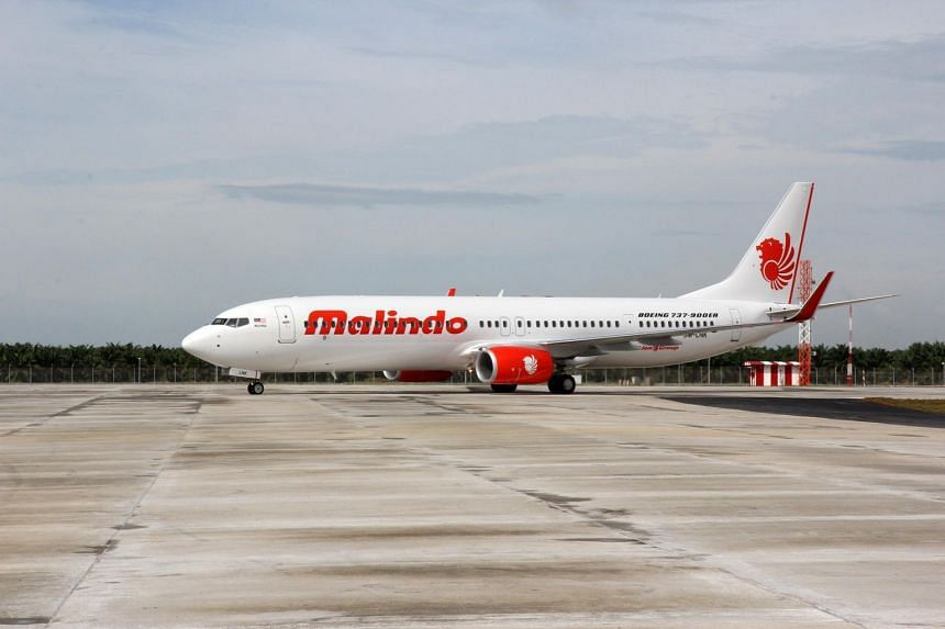 File photo showing a Malindo Air plane on the tarmac of an airport.