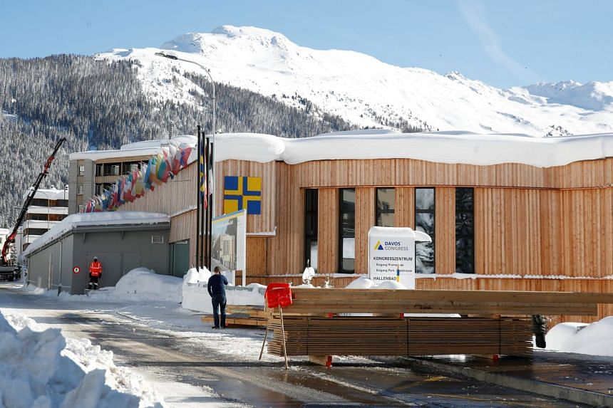 A view of the congress centre, the venue of the World Economic Forum in Davos, Switzerland on Jan 15, 2019.
