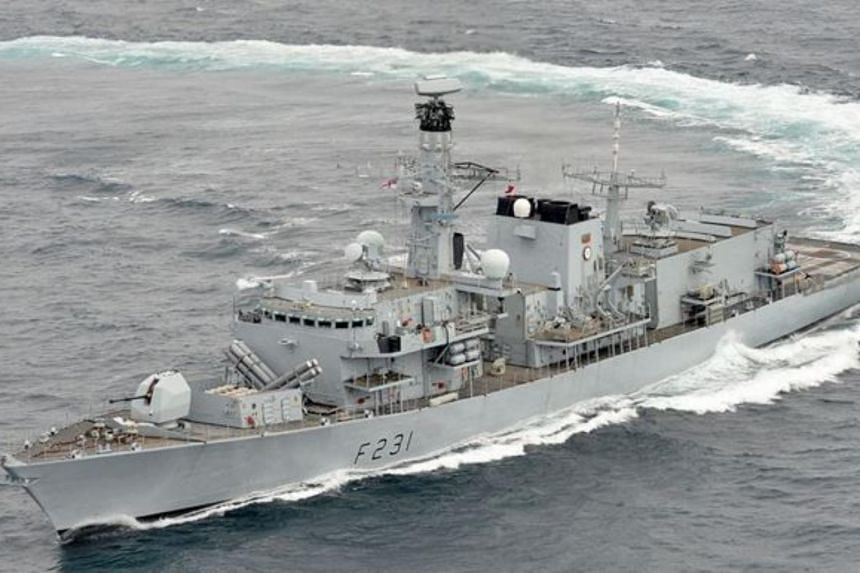 The HMS Argyll (above) conducted communication drills and other exercises with a US Navy guided missile destroyer, the USS McCampbell, from Jan 11-16, 2019.