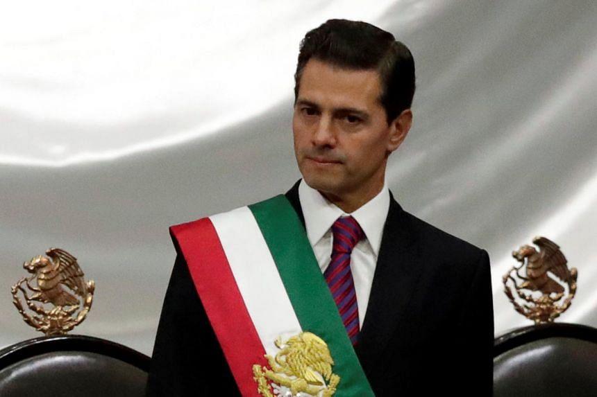 Mexico's former president Enrique Pena Nieto at Congress in Mexico City on Dec 1, 2018. According to a witness at the Joaquín Guzmán Loera trial, Pena Nieto took a US$100 million bribe from Guzman.