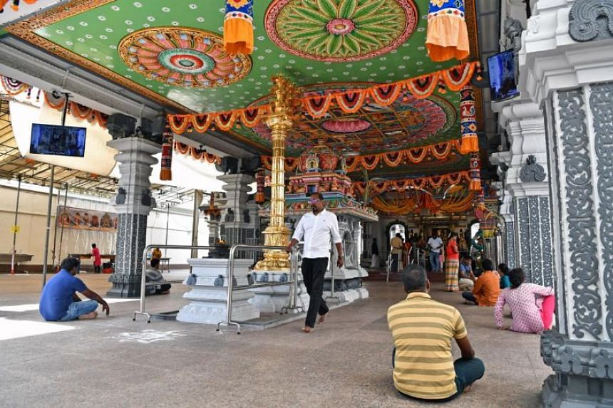 Sri Srinivasa Perumal Temple in Serangoon Road, which will be the starting point of the Thaipusam procession this year.
