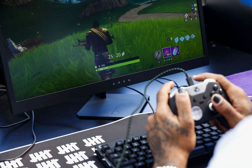 A player competes in the Fortnite: Battle Royale Celebrity Pro Am in Los Angeles.