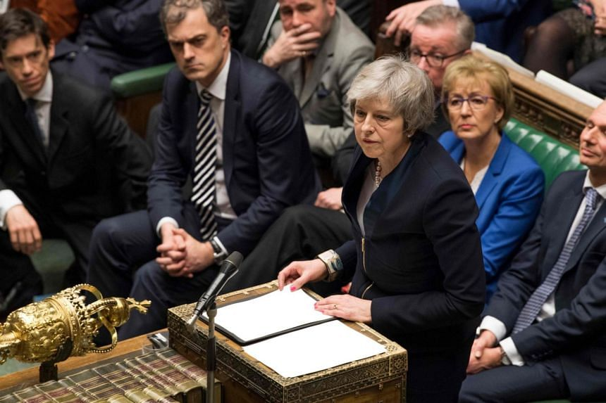 Britain's Prime Minister Theresa May making a statement in the House of Commons in London, on Jan 15, 2019, directly after MPs rejected the government's Brexit deal.