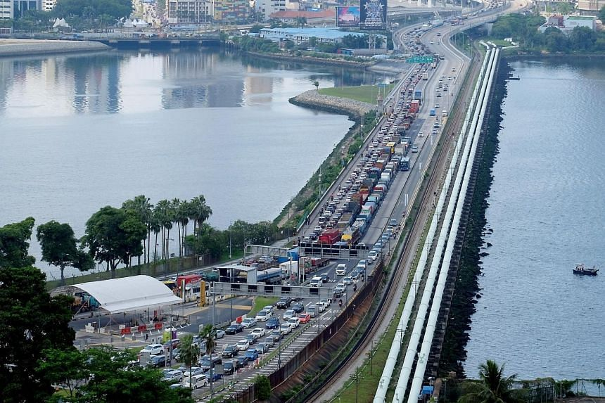During the festive period last month, some commuters reported they were stuck in jams that lasted four to six hours at both the Tuas and Woodlands checkpoints.