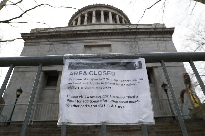 A sign outside the General Grant National Monument in New York City, on Jan 12, 2019.