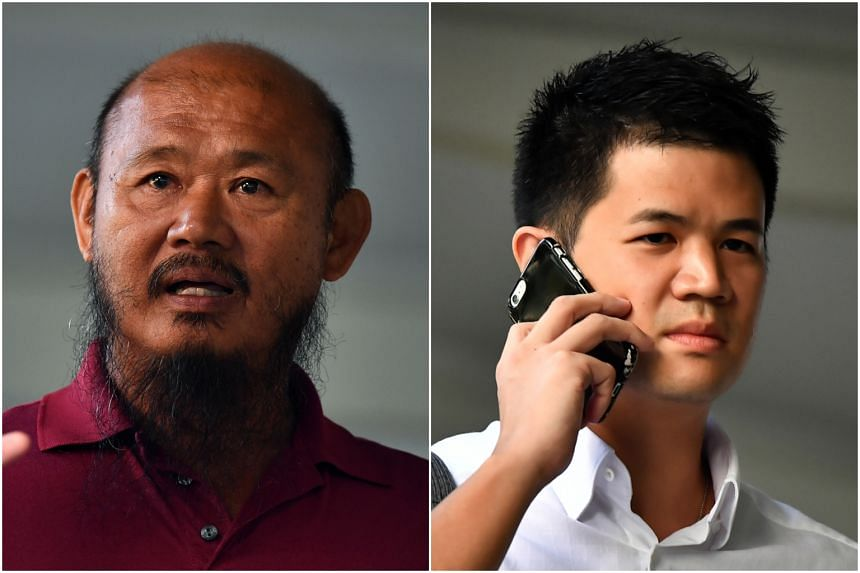 Both lorry driver Teo Seng Tiong (left) and cyclist Eric Cheung Hoyu face two charges.