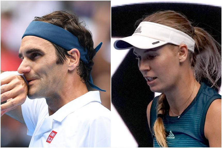 Defending champions Roger Federer and Caroline Wozniacki are both on track in the Australia Open, winning their matches on Jan 16, 2019.