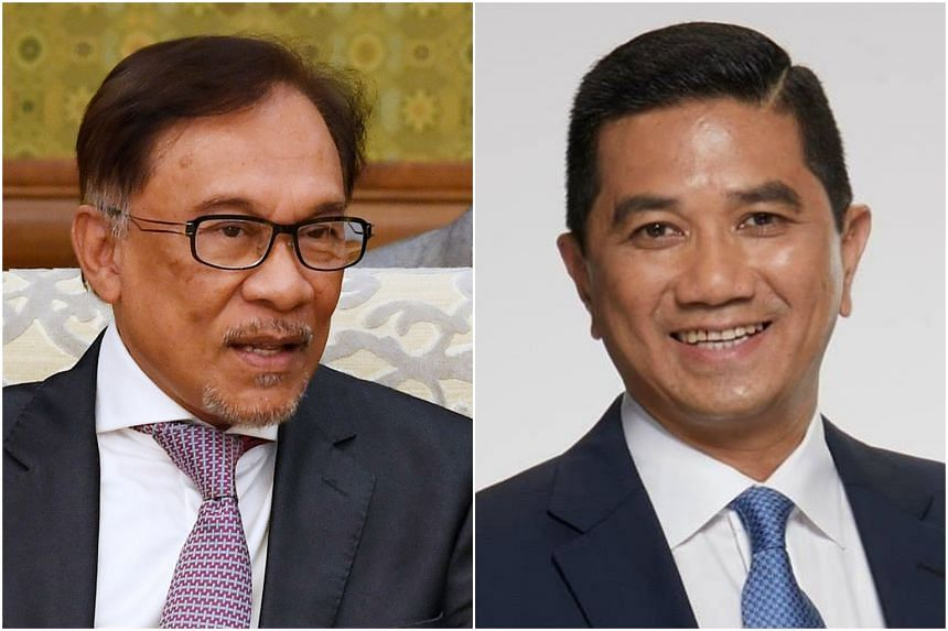 Malaysian Economic Affairs Minister Mohamed Azmin Ali (right) has a rather thorny relationship with his party boss, Datuk Seri Anwar Ibrahim.