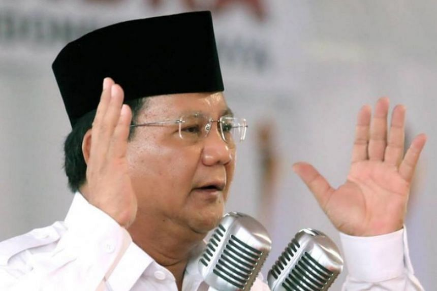 The April 17 election is the second presidential bid for Prabowo Subianto, who lost to incumbent President Joko Widodo in 2014.