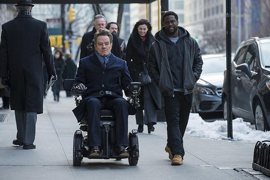 Kevin Hart is an ex-convict who becomes the live-in caregiver of a wealthy quadriplegic played by Bryan Cranston in The Upside.