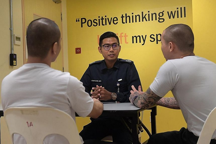 Drug Rehabilitation Centre inmates currently attend various configurations of programmes, which differ in intensity according to an inmate's individual risk and needs assessment.