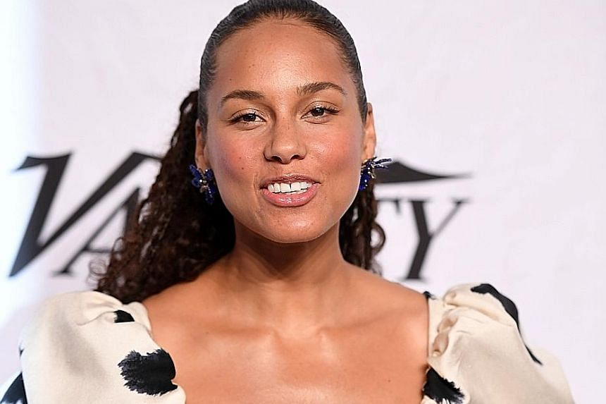 American singer and songwriter Alicia Keys