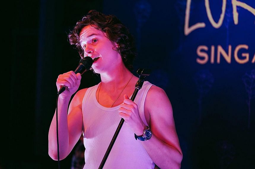Singer Lukas Graham Forchhammer says the birth of his daughter Viola, now two years old, helped him re-prioritise his life.