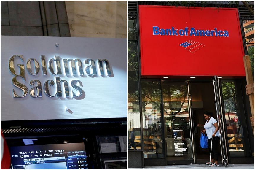 Goldman Sachs reported mixed operational performance across its trading, investing and lending businesses, while Bank of America saw its profits triple compared to a year earlier.
