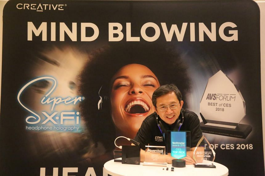Creative swept up four awards on Thursday for its SXFI products, from leading consumer tech writers and reviewers who roamed the exhibition floor in search of the cutting edge.