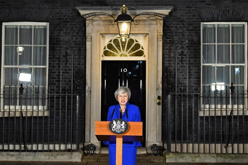 "Mrs Theresa May rarely gives any sense of being chastened by a defeat, plodding on in the manner that earned her the nickname ""Maybot""."