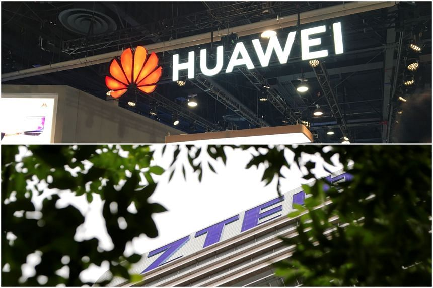A bipartisan group of US lawmakers introduced Bills that would ban the sale of US chips or other components to Huawei Technologies, ZTE Corp or other Chinese firms that violate US sanctions or export control laws.