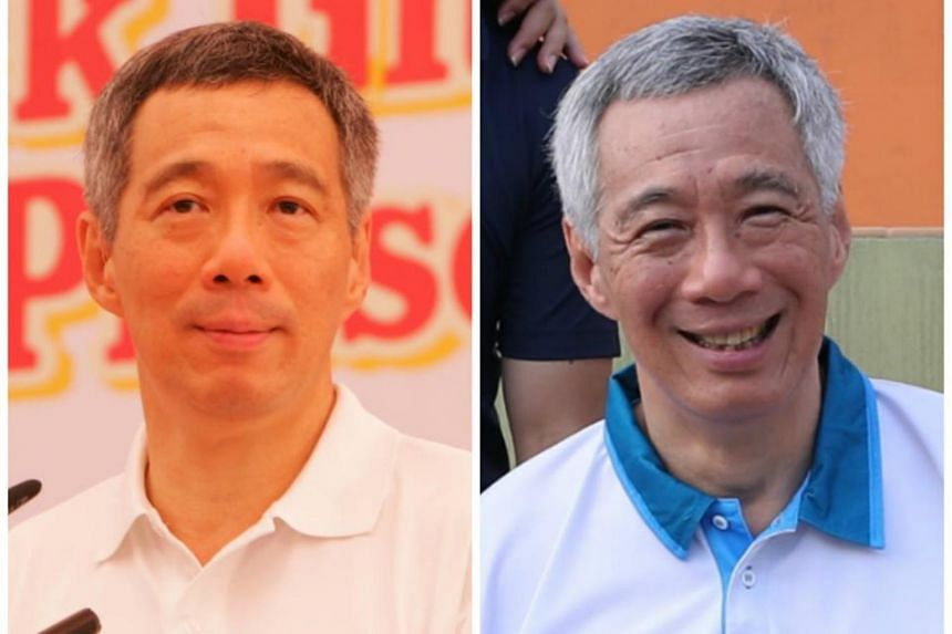 Prime Minister Lee Hsien Loong shared photos of himself from 2009 and this year in a Facebook post with the hashtag #10YearChallenge.