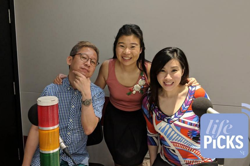 Life Picks podcast host Melissa Sim (centre) is joined by ST journalists Boon Chan (left) and Rebecca Lynne Tan (right) as they give you the best lifestyle tips this week.