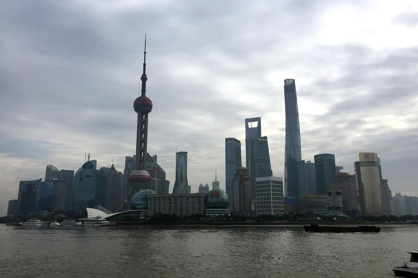 File photo showing skyscrapers lining the skyline of Shanghai, China.