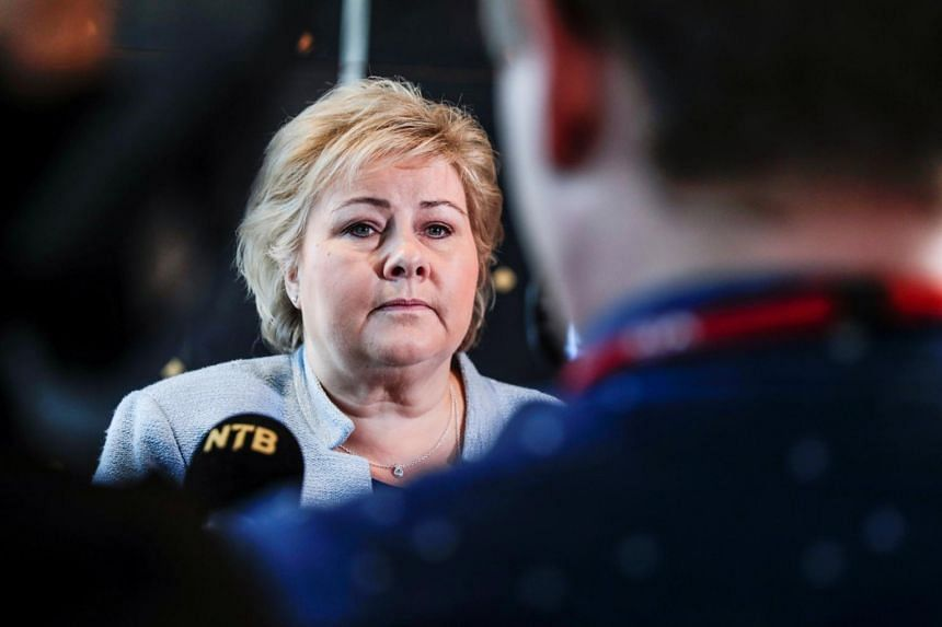 """""""There will be fewer young people to bear the increasingly heavy burden of the welfare state,"""" said Norway's Prime Minister Erna Solberg."""